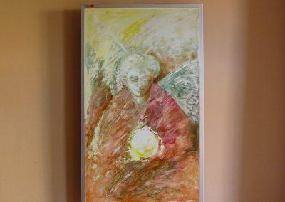 IHS 600, vlastní malba akrylovou barvou