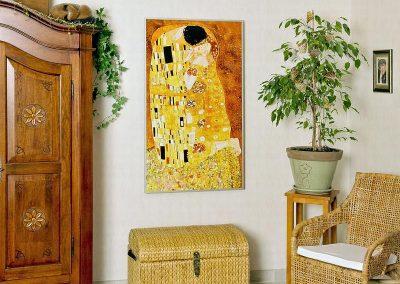 IHS 900, alu rám, redwell motiv - Klimt