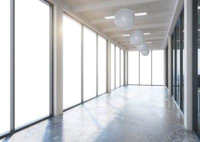 empty corridor interior