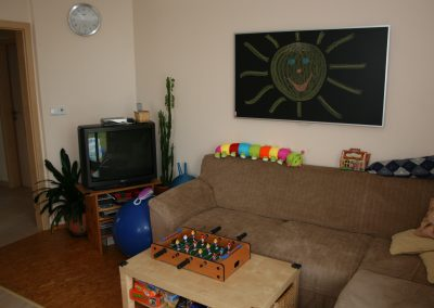 Infrapanel topná tabule Wellina alu rám - infratopení v obývacím pokoji